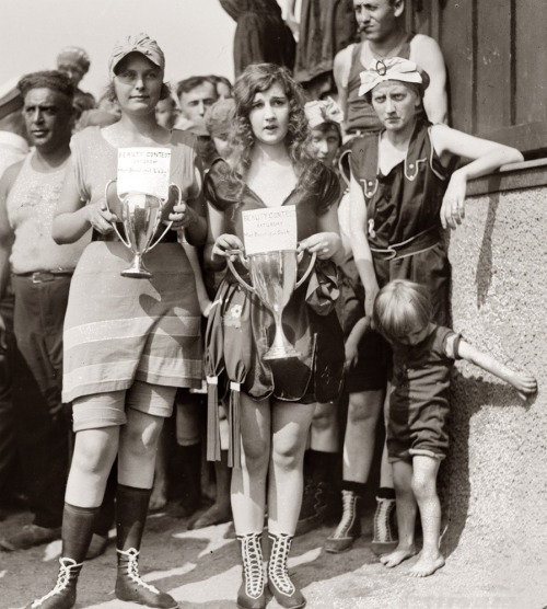 Bathing beauty contest winners (and losers), circa 1920