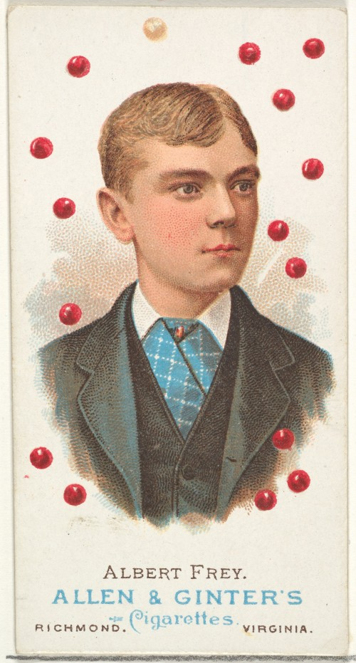 Cigarette trading card from 1887